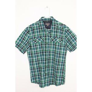 Eddie Bauer Short Sleeve Button Up Plaid Shirt